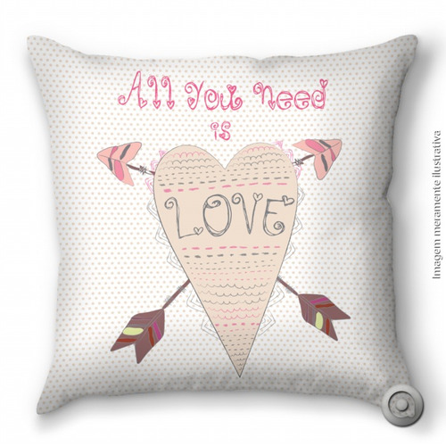 capa de almofada haus for fun love heart 40x40