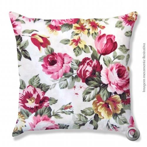 capa de almofada haus for fun rosas 40x40