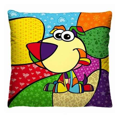 capa de almofadas coloridas decorativas pop art