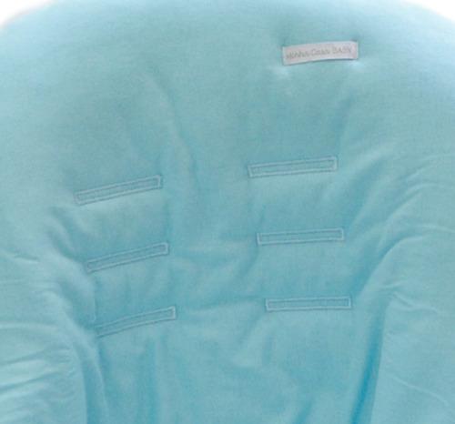 capa de bebê conforto malha azul - minha casa baby