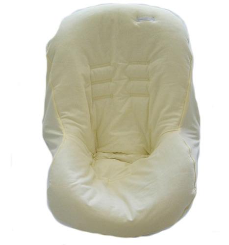 capa de bebê conforto malha bege - minha casa baby