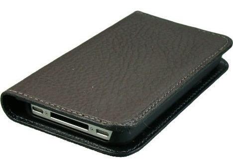 capa de celular em couro para iphone 5 wallet chocolate