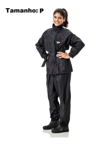 capa de chuva motoqueira estilo forro feminina pantaneiro