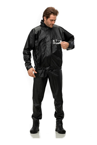 capa de chuva motoqueiro impermeável pantaneiro pvc tam exg