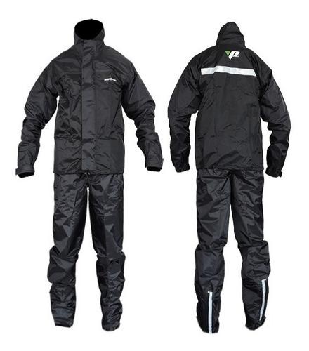 capa de chuva motoqueiro masculino preto pantaneiro nylon *