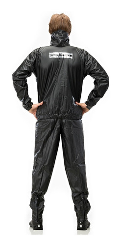 capa de chuva motoqueiro motoboy pvc tornado pantaneiro com gola e bolso