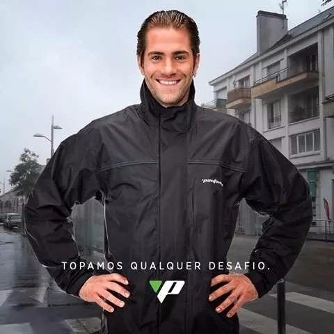 capa de chuva motoqueiro nylon luxo c/ forro + bota pantanei