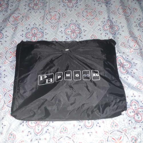 capa de chuva motoqueiro nylon preta tamanho gg - usada + brinde