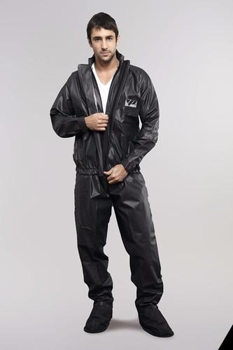 capa de chuva motoqueiro pvc + bota impermeável pantaneiro
