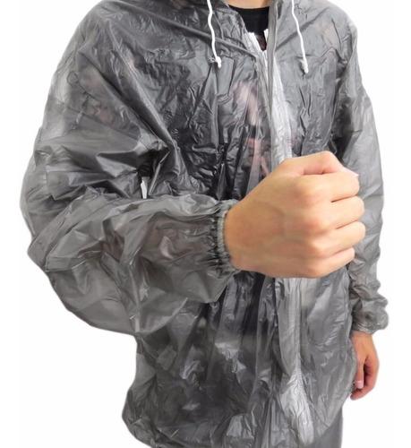 capa de chuva p/ motoqueiro transparente nikokit exg flex