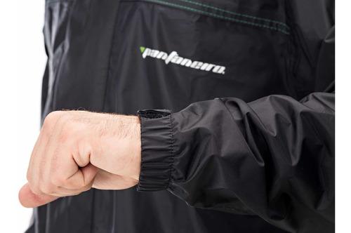 capa de chuva pantaneiro nylon luxo conjunto c/ forro e gola