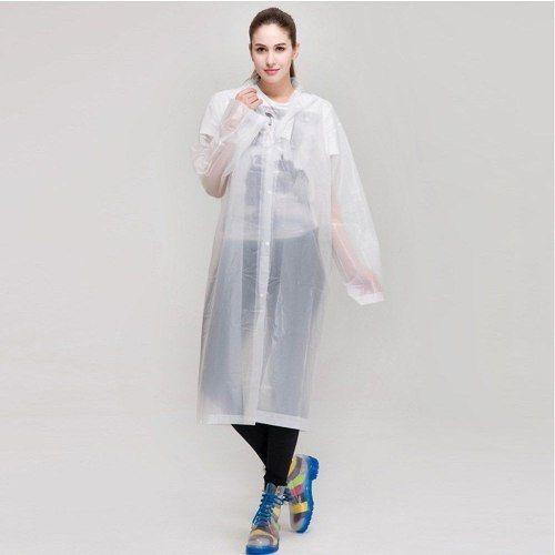 capa de chuva transparente pvc impermeável eventos passeios