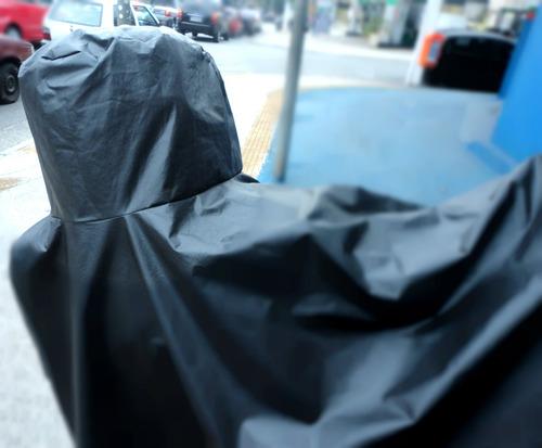 capa de cobrir moto c/ porta baú térmica big trail yamaha