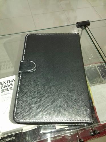 capa de couro c/ teclado universal p/ tablet 7 polegadas usb