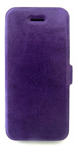 capa de couro cell iphone 5/5s roxa
