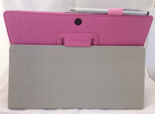 capa de couro magnética tablet asus memopad fhd 10 rosa