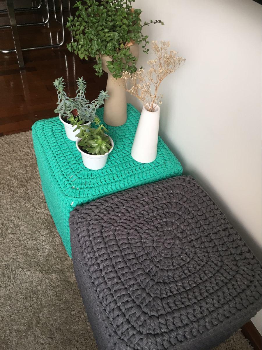 Capa de croch puff quadrado madeleine decor r 165 00 for Madeleine decoration