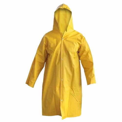 capa de lluvia impermeable resistente de pvc - polyester