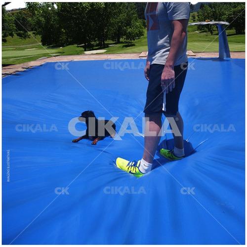 capa de piscina 15 em 1 pvc 500 segurança+térmica 7,5x3,5 m