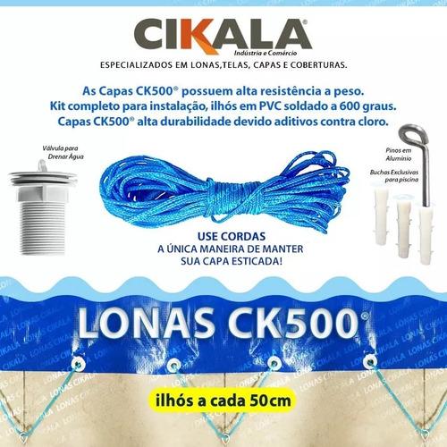 capa de piscina 15 em 1 pvc 500 segurança+térmica 9x5 m