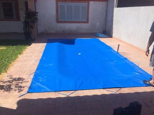 capa de piscina 5,5x3,2  200 micras lona leve
