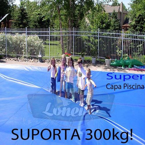 capa de piscina 8,5m x 4,5m lona proteção cobertura tela