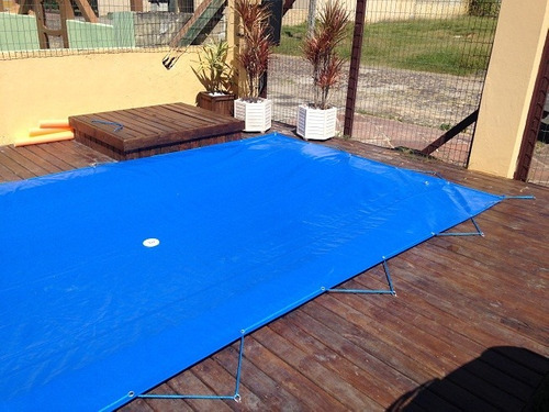 capa de piscina 9x4,5 - lona leve 200 micras