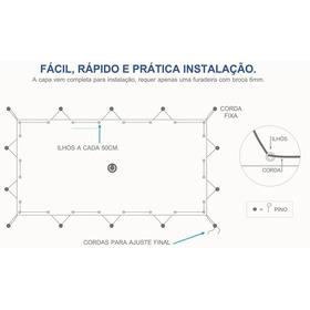 Capa De Proteção Piscina 6x3 Lona Forte 300 Micras Full