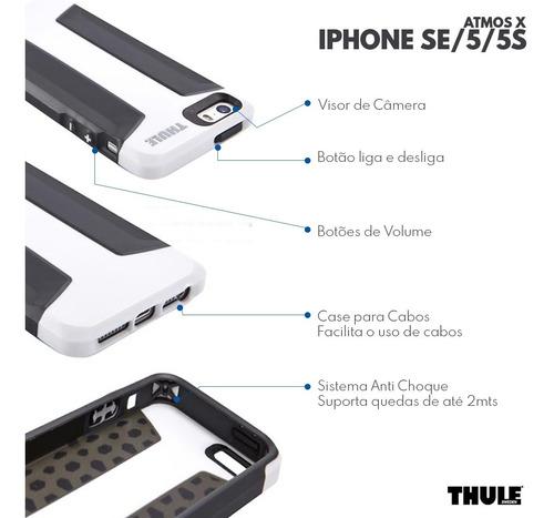 capa de proteção para iphone se 5 5s atmos x3 thule