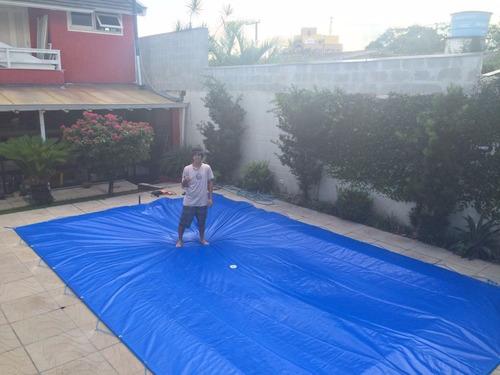capa de proteção piscina 300 micras  6x6 alta resitência