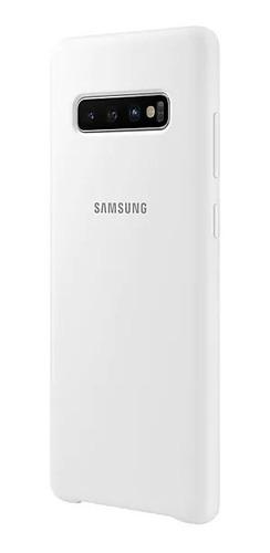 capa de silicone branca samsung galaxy s10plus original s10+