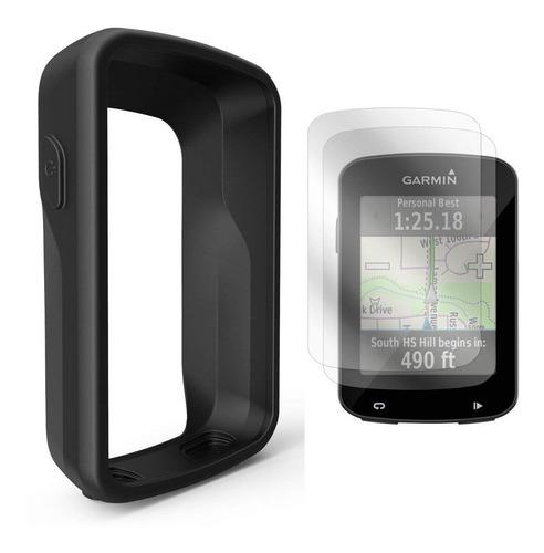 capa de silicone + pelicula vidro premium garmin edge 820