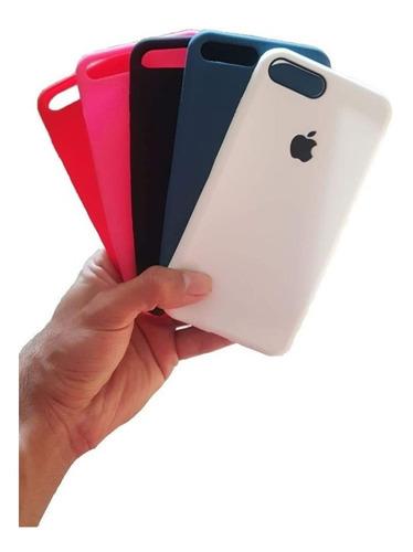 capa de silicone slim colorida flexível iphone 7 e 8 plus