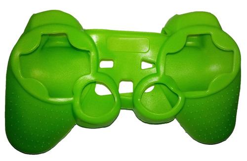 capa de silicone verde p/ controle playstation 2 ( ps2 )