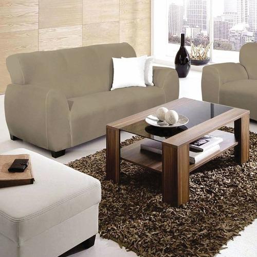 capa de sofá 2 e 3 lugares em malha grossa e grande-admirare