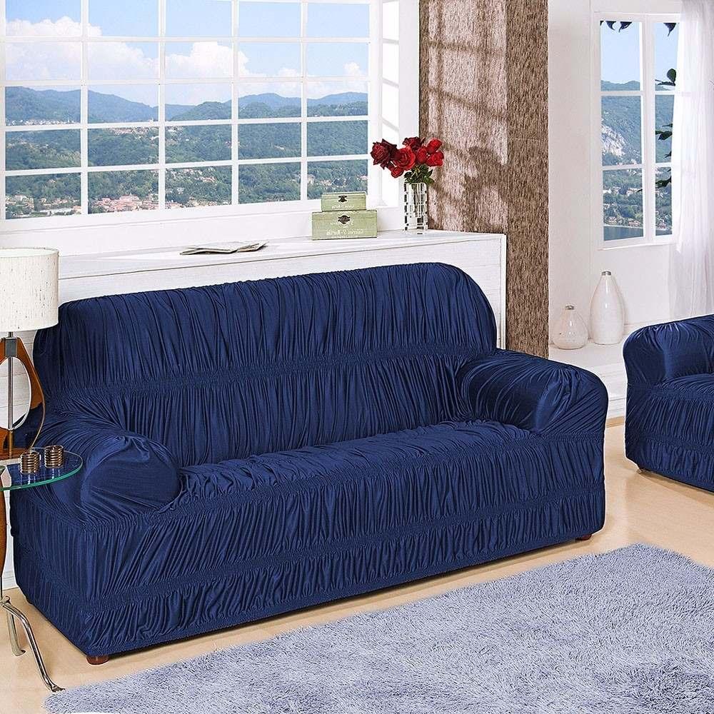 0604ff39e capa de sofá 3 e 4 lugares protetor king várias cores malha. Carregando  zoom.