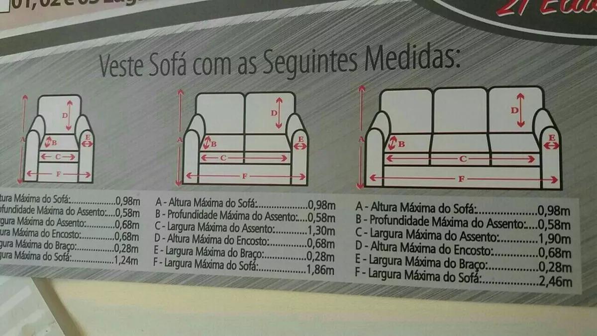 895a9385b Capa De Sofá Avulsa 3 Lugar 100 % Malha Gel Ótima Qualidade - R  68 ...