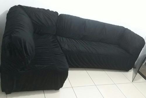 capa de sofá canto sem almofadas