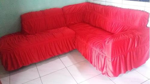 capa de sofá de canto sem almofadas