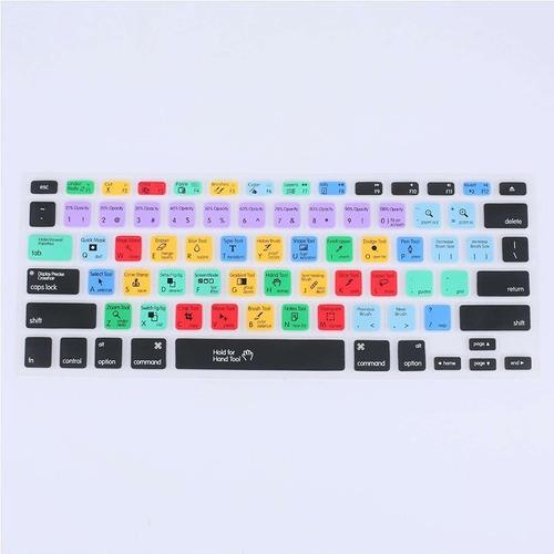 capa de teclado de silicone impresso para macbook pro 13 pol