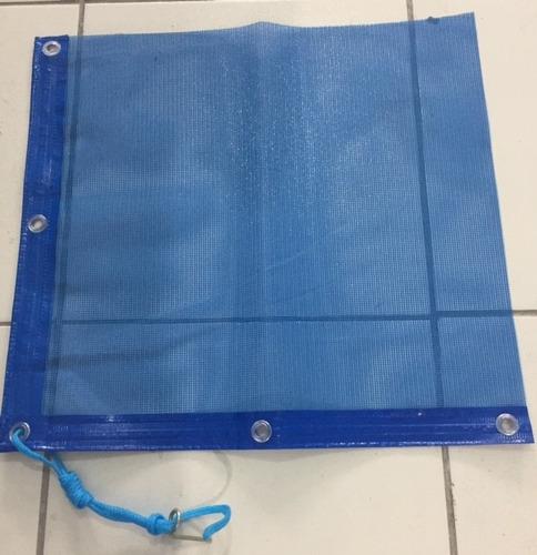 capa de tela piscina para 120kgs m2 02 anos de garantia
