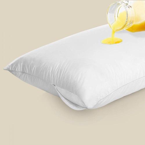 capa de travesseiro impermeável 50cm x 70cm com zíper oferta