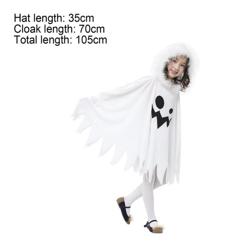 capa disfraz fantasma niñas- envío gratis