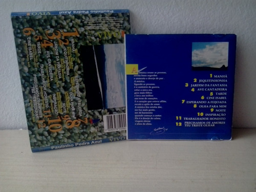 capa e c/encarte - do cd paulinho pedra azul vivo frt gratis