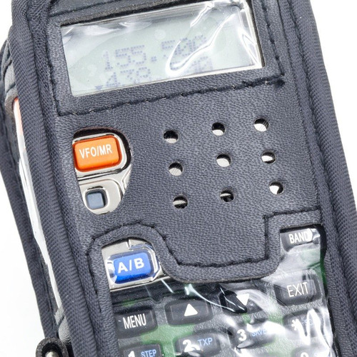capa em couro para rádio baofeng uv-5r uv-5ra tyt th-48