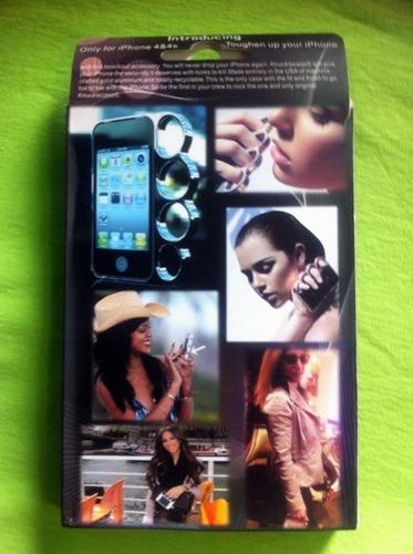 capa estilo soco inglês iphone 4/4s - cromada ou grafite