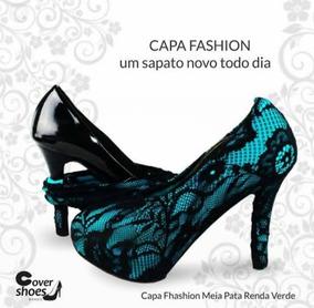739678d2d1 Capa Para Sapatos Scarpin Preto no Mercado Livre Brasil