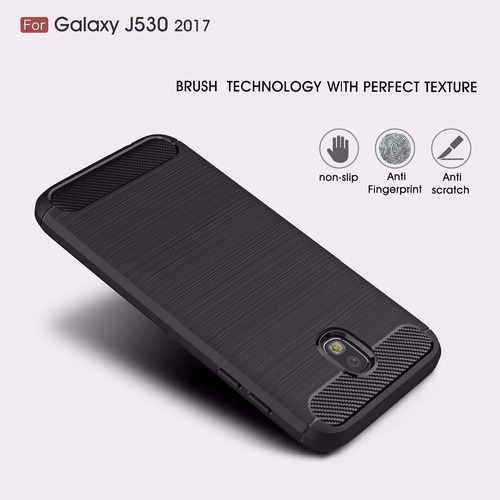 capa fibra anti-impacto samsung galaxy j5 pro+pelicula vidro