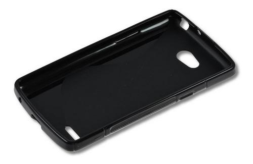 capa flexível lg l80 dual d380 d385 + película *frete grátis