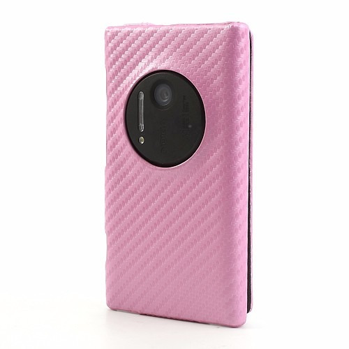 capa flip carbono lumia 1020 + película normal - ft grátis!